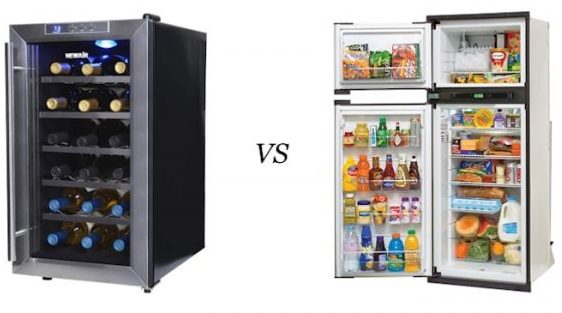 Wine Cooler vs Refrigerator Difference