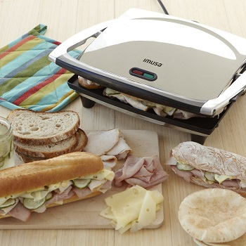 Imusa GAU-80102 Electric Panini and Sandwich Maker