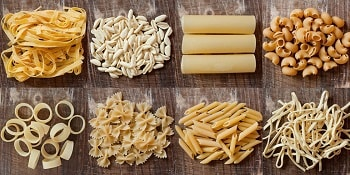 different pasta shapes