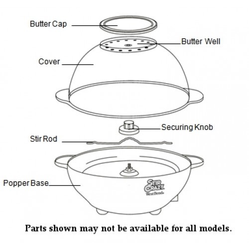 West Bend Popcorn Popper Parts